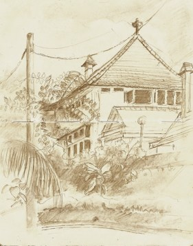 "Penang Hill House - 6x8"" - pencil"