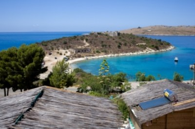 Blue sea and beach in Albania