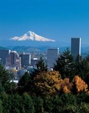 Portland skyline - picture courtesy of Travel Oregon.