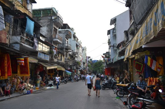 The old quarter in Hanoi is a colourful and vibrant place.