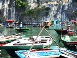 The floating village in Halong Bay was wonderful to see how locals live and make a living.