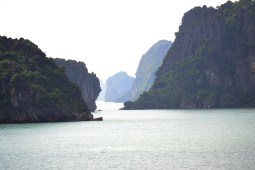 One of the many inlets which you see in Halong Bay. A stunning, stunning area.
