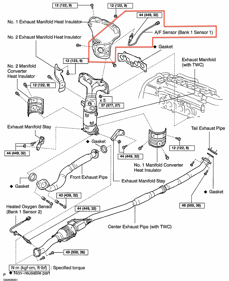 medium resolution of  rav4 engine diagram oxygen sensor u2014 replacement3d exploded view of the exhaust system compents with fastener sizes and