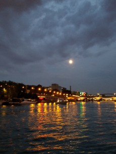 The moon over Paris.
