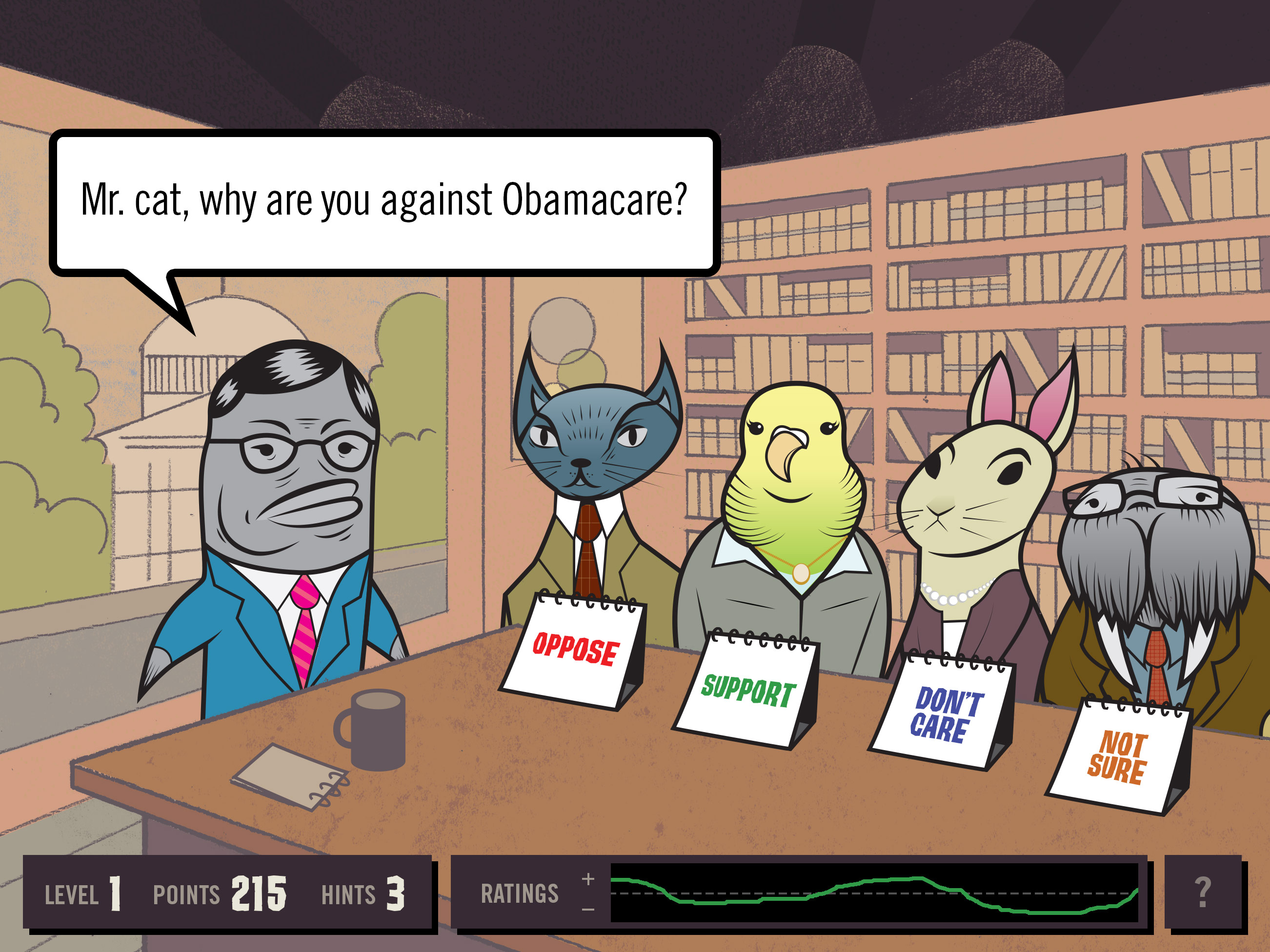 Political Agenda Game Illustrations Andy Rench