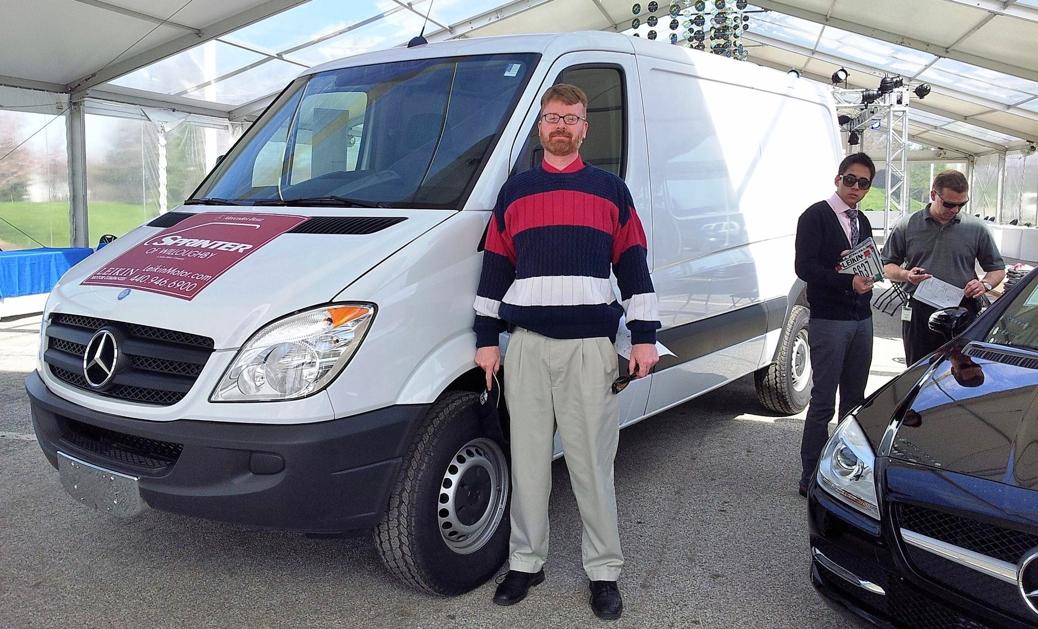My first experience driving a mercedes benz sprinter van for Leikin mercedes benz