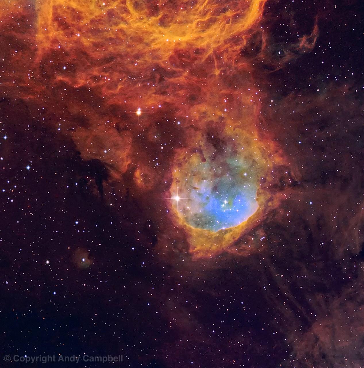 ngc 3324 Nebula narrowband image astrophotography