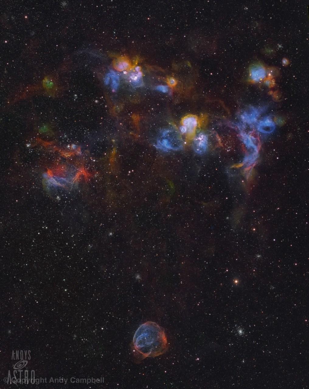 NGC 1772, NGC 1727 nebula in narrowband