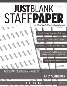 Just Blank Staff Paper book cover