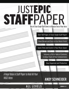 Just Epic Staff Paper book cover