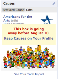 causes app to leave profile box in august facebook
