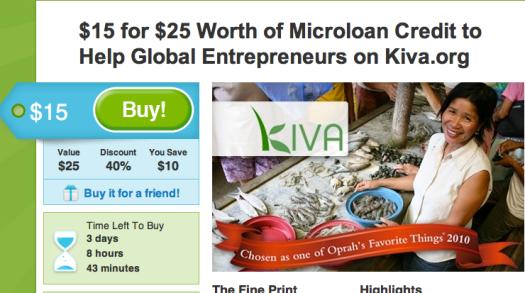 Groupon Kiva Donors Choose charity donate holiday