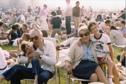 Zadie, my sister Emily, Bubbie and me - Ravinia Festival circa 1983