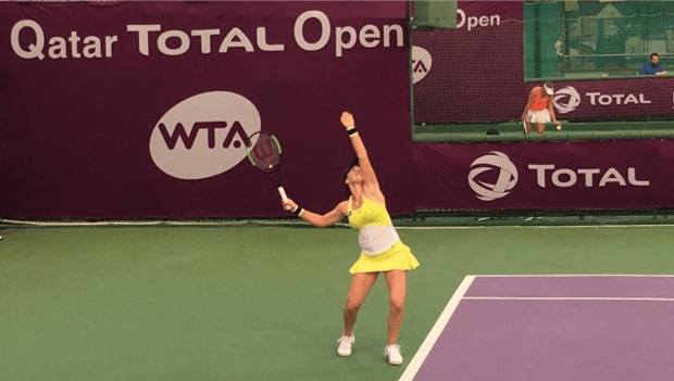 Team USA. Madison Brengle. Into the final round of qualifying in Doha. (Photo: Sheri Kenly)