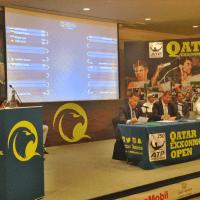 Andy Taylor. Emcee. Qatar ExxonMobil Open 2018. Draw Ceremony