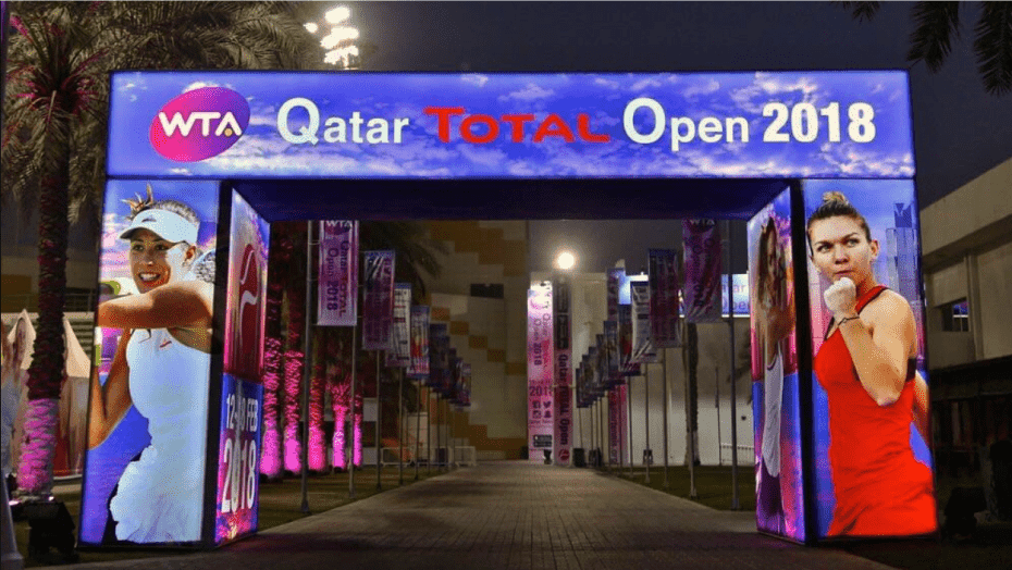 Host Andy Taylor. Qatar Total Open 2018. Qualifying Round-2