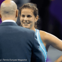Tennis Host Andy Taylor. Qatar Total Open 2018. Round-1. Day-2. Julia Goerges