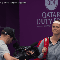 Sports Host Andy Taylor. Qatar Total Open 2018. Round-2. Day-3. Petra Kvitova