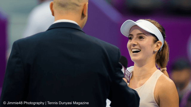 Tennis Host Andy Taylor. Qatar Total Open 2018. Round of 16. Day-4. Cici Bellis