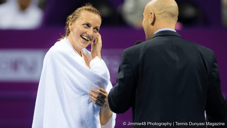 Tennis Host Andy Taylor. Qatar Total Open 2018. Semifinal. Day-6. Petra Kvitova