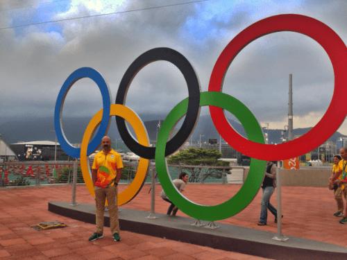 The Olympic Rings. Rio de Janeiro