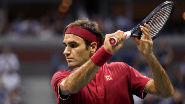 Andy Taylor Announcer. 2018 US Open Round-1. Roger Federer defeats Yoshihito Nishioka