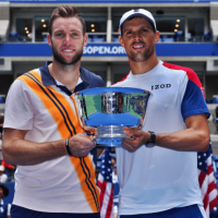 Andy Taylor Announcer 2018 US Open Jack Sock Mike Bryan Champions