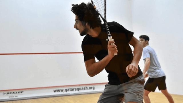 Andy Taylor Announcer 2018 Qatar Classic 002 Round 1 Victory Mazen Hesham