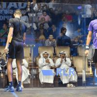 Andy Taylor Announcer 2018 Qatar Classic Round of 16 Victory Karim Abdel Gawad