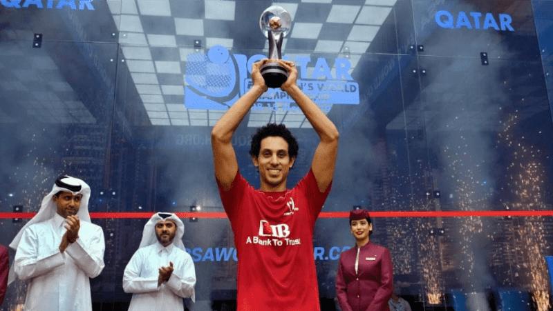 Andy Taylor Announcer. 2019 PSA Mens World Championship. Champion Tarek Momen