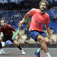 Andy Taylor Announcer. 2019 PSA Mens World Championship. Round 2. Karim Abdel Gawad