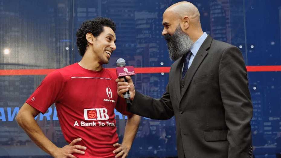 Andy Taylor Announcer. 2019 Qatar PSA Mens World Championship. A Moment with the World Champion