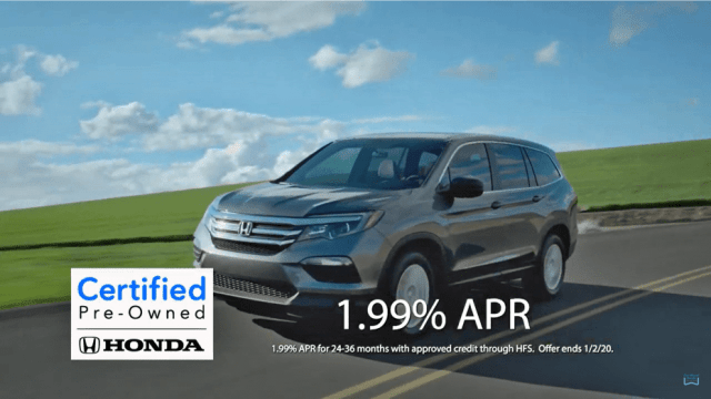 Andy Taylor Voice Over. Don Wessel Honda. 2019 December Pre-Owned Specials