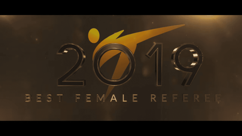 Voice Over Andy Taylor. Award Gala. World Taekwondo 2019 Best Female Referee of the Year
