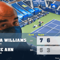 Announcer Andy Taylor. 2020 US Open. Round 1 Serena Williams