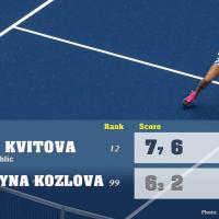 Announcer Andy Taylor. 2020 US Open. Round 2 Petra Kvitova