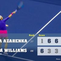 Announcer Andy Taylor. 2020 US Open. Semifinal Victoria Azarenka