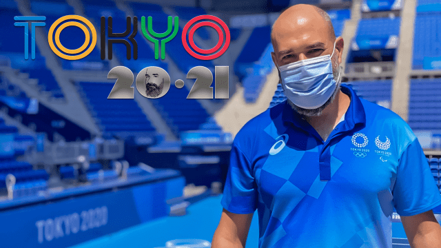 Announcer Andy Taylor. Tokyo 2020 Summer Games. English Center Court Emcee
