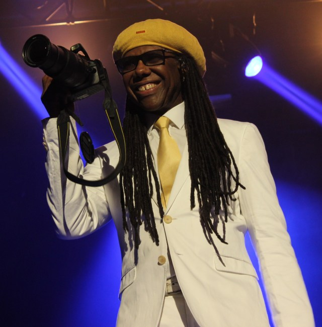 Nile Rogers with camera - Andy Wooding