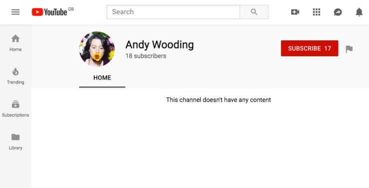 Andy Wooding YouTube
