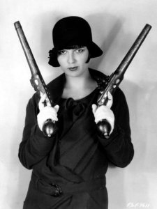 Vintage Photos of  Girl with Pistol (16)