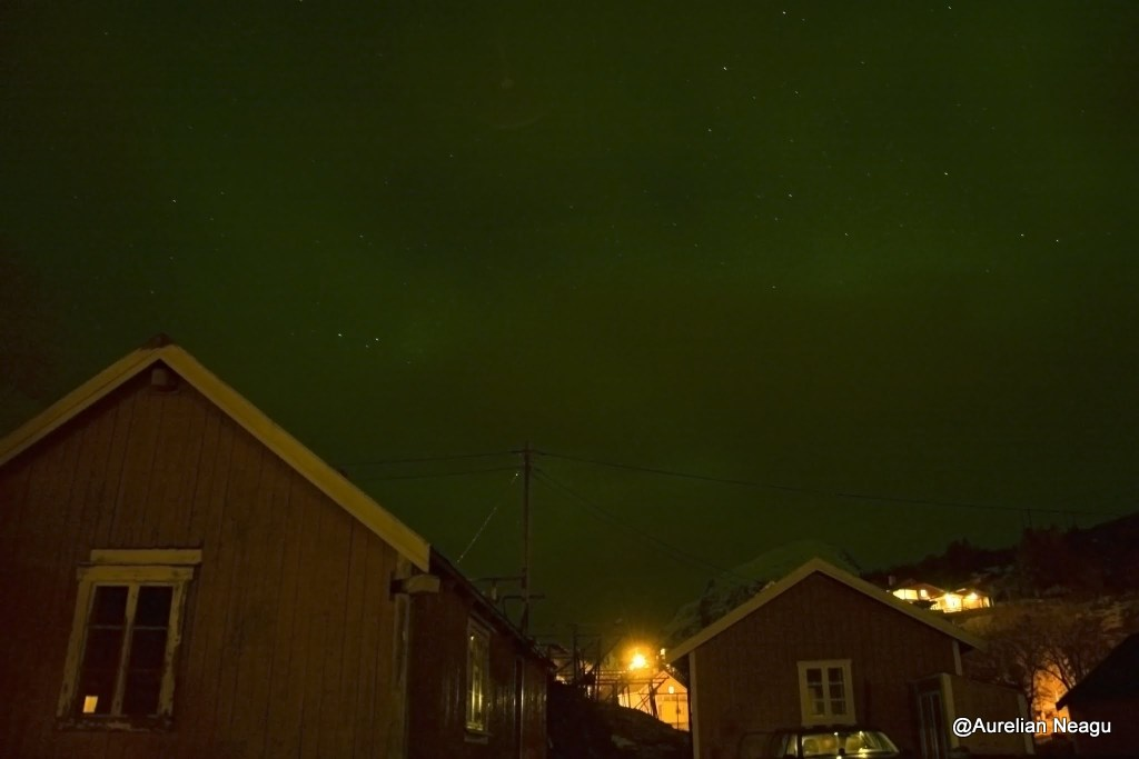 aurora boreala peste Tind