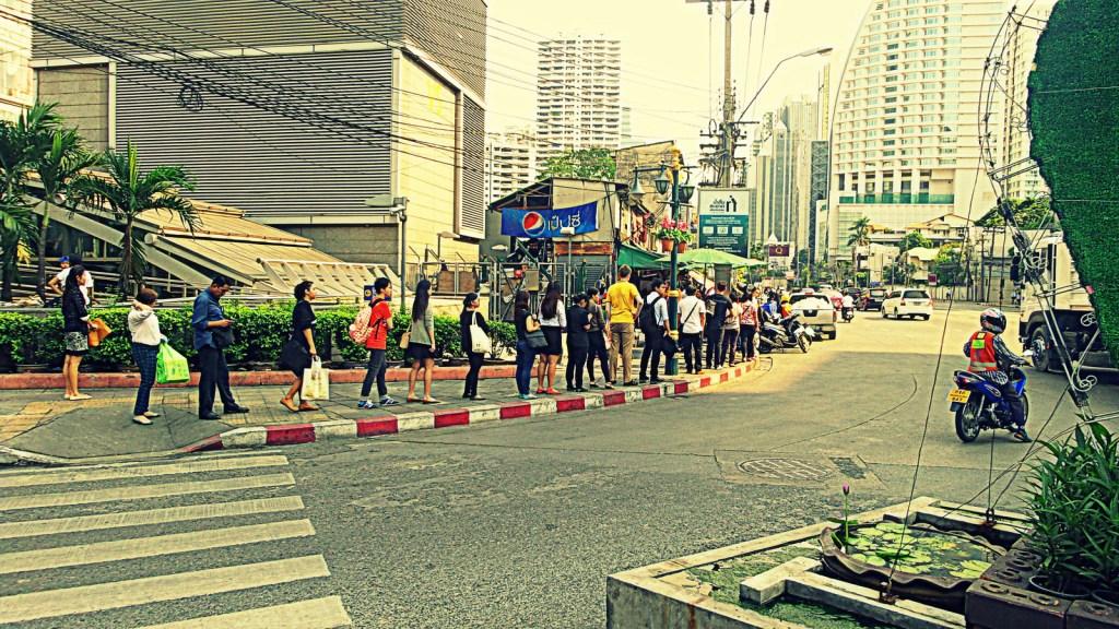 Bangkok Thailanda pietoni
