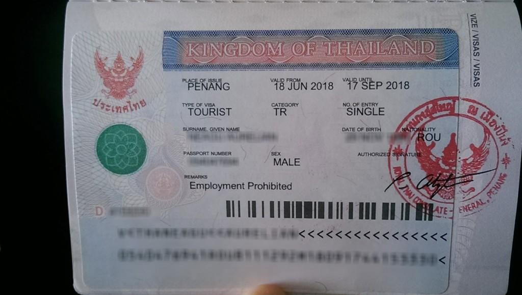 Viza Turistica Thailanda