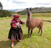 A lady and her lama