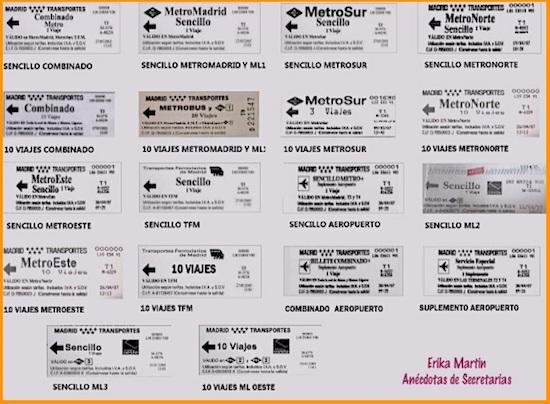 Billetes Metro Madrid