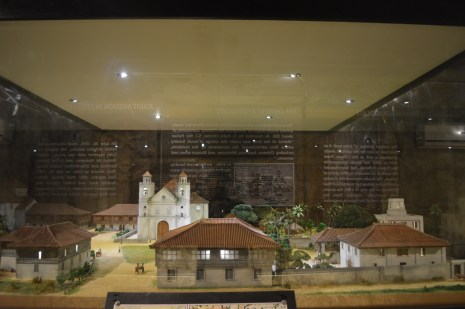 A miniature pueblo or town center reflecting the old Parian district during the Spanish time.