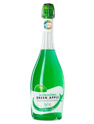 La Vida en Colores Green Apple es un cóctel a base de vino elaborado con uva Moscatel de Alexandría, con esencias y aromas naturales.