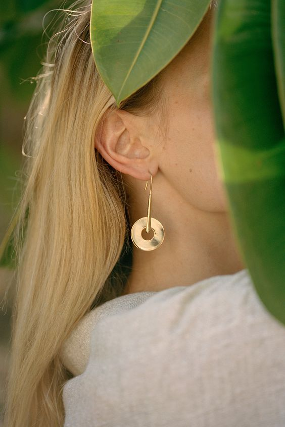trade-mark small disk drop earring