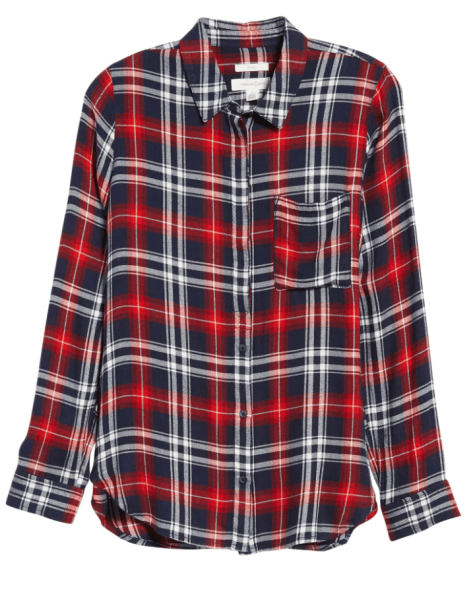 treasure and bond plaid top